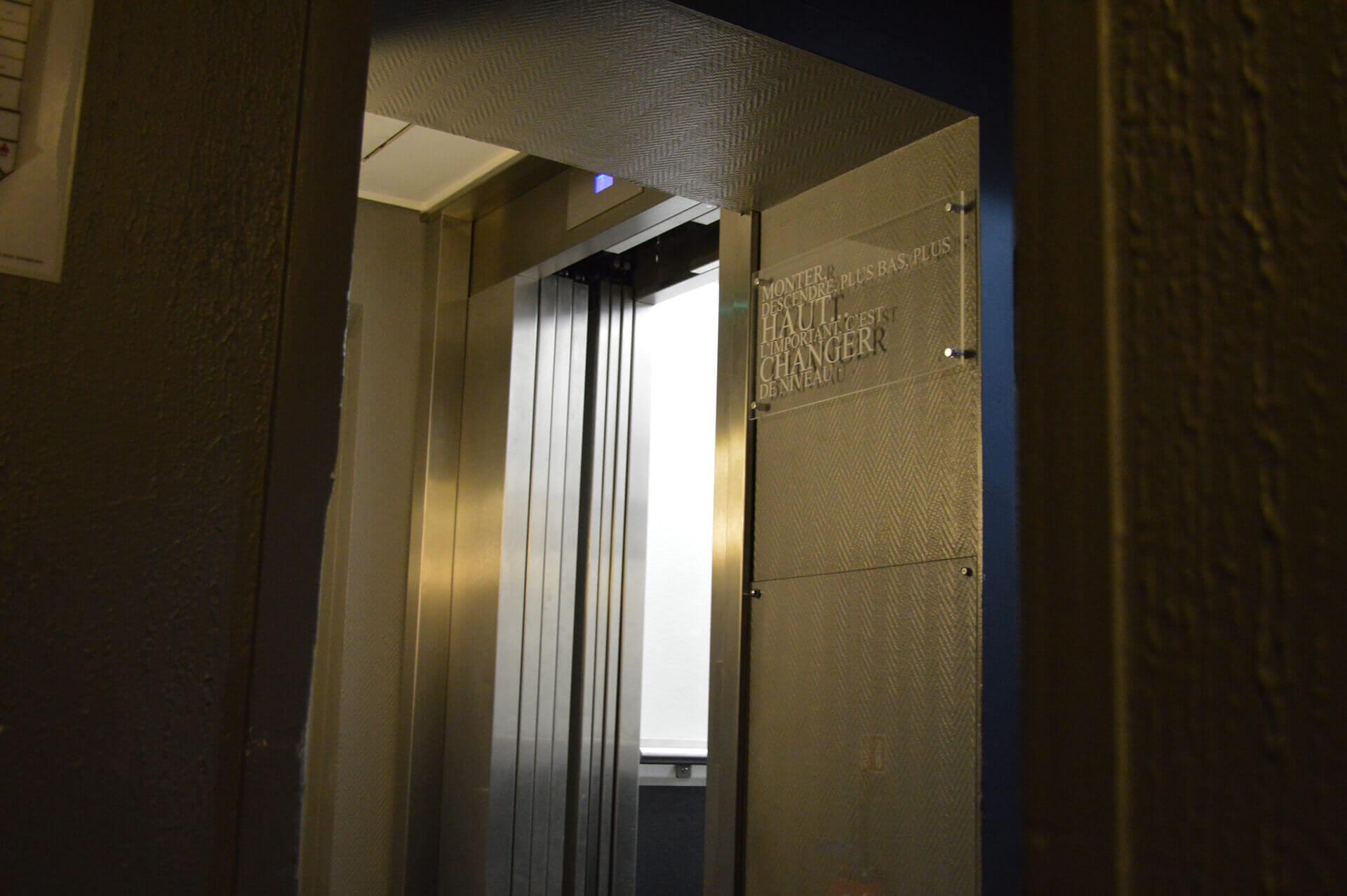Ascenseur hôtel Dijon